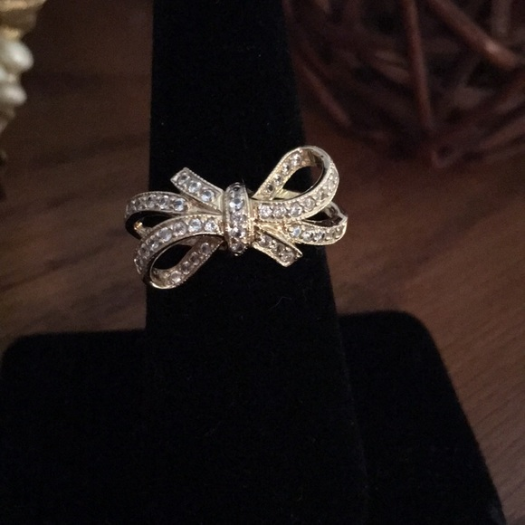 d4725bd52056d7 QVC Jewelry | 14k Yellow Gold Diamonique Ribbon Bow Ring | Poshmark